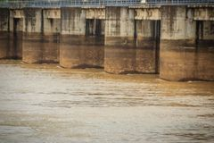 The Pak Mun Dam, a barrage dam and run-of-the-river hydroelectri Royalty Free Stock Images