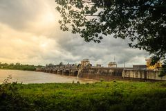 The Pak Mun Dam, a barrage dam and run-of-the-river hydroelectri Stock Photography