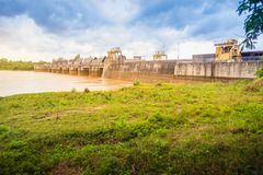 The Pak Mun Dam, a barrage dam and run-of-the-river hydroelectri Royalty Free Stock Image