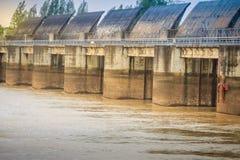 The Pak Mun Dam, a barrage dam and run-of-the-river hydroelectri Stock Photo