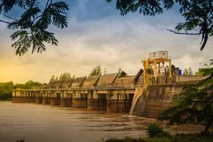 The Pak Mun Dam, a barrage dam and run-of-the-river hydroelectri Royalty Free Stock Photo