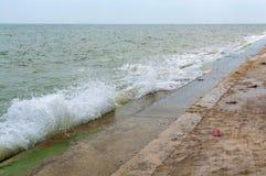 Pak nam pran, Pranburi beach, Prachuap khiri khan, Thailand Royalty Free Stock Photography