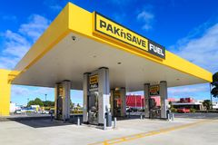 A Pak`nSave gas station in Tauranga, New Zealand royalty free stock images
