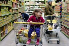 PAK'nSAVE supermarket Royaltyfri Foto