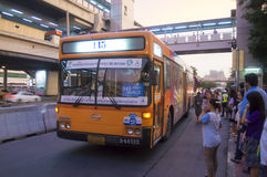 145 Pak Num - stazione degli autobus di Bangkok (Jatujuk) Immagini Stock Libere da Diritti