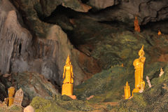 Pak Ou caves  at the Mekong River Royalty Free Stock Photography