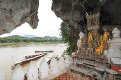 Pak Ou zawala się w Luang Prabang, Laos Obraz Stock