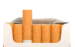 Pak sigaretten. stock foto's