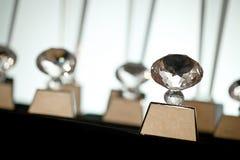 Pak van de duidelijke winnaar van de de trofeetoekenning van het kristalglas Stock Foto