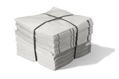 Pak van document royalty-vrije stock foto's