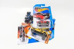 Pak van het Hete stuk speelgoed van de Wielenmatrijs gegoten auto stock foto's
