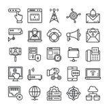 Pak van netwerk en het Communicatie Pictogrammen royalty-vrije illustratie