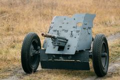 Pak-36 Wehrmacht Kanonen-Truppen Zweiter Weltkrieg lizenzfreie stockbilder