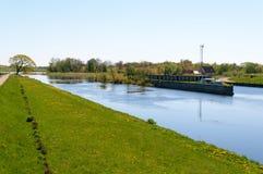 Pakalne river. Small river Pakalne reflects blue sky, rusne island, lithuania Royalty Free Stock Photos