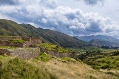Pakapukara Inca Ruins near Cusco. View of the Pakapukara ruins near Cusco, Peru Stock Image