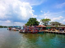 Pakbara pier in Satun Royalty Free Stock Photo