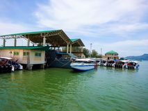 Pakbara pier in Satun Stock Photography