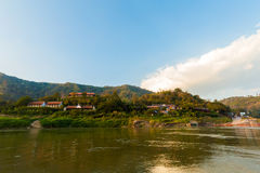 Pakbeng nel Laos durante la crociera Fotografia Stock