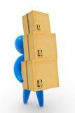 Paket-Anlieferung Stockfotos