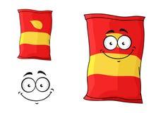 Paket av chiper eller chips stock illustrationer
