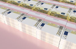 Paket av 200 euroräkningar Royaltyfri Foto