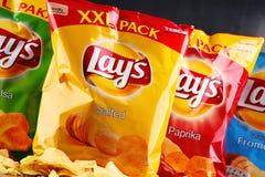 Paket av Lays potatischiper arkivbilder