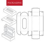 Paket f?r B?ckerei Vektorillustration des Kastens lizenzfreie abbildung