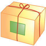Paket-Ikone Stockbild