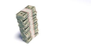 Paket 4K von 100 Dollarscheinen, die abfallen stock abbildung