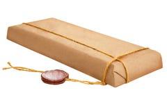 Paket mit alter Wachsdichtung Lizenzfreies Stockfoto