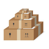 Pakete Stockfotos