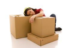Pakete für das Hausbewegen Lizenzfreies Stockbild