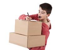 Paketera leveransen Arkivbild