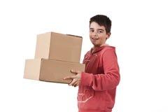Paketera leveransen Arkivbilder