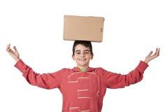 Paketera leveransen Arkivfoton