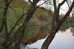 Pakhra riverbank in Dubrovitsy. Russia Royalty Free Stock Image