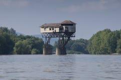 Pakhuis in de Donau Royalty-vrije Stock Foto's
