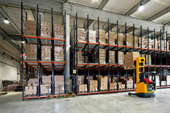 Pakhuis forklifter Stock Fotografie