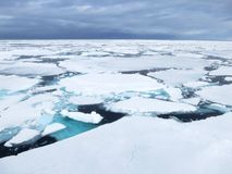 Pakijs, Spitsbergen; Pack ice, Svalbard stock images