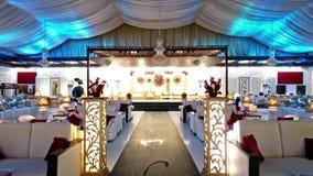 Pakistańska Ślubna ceremonia Arrangments W Karachi zbiory wideo