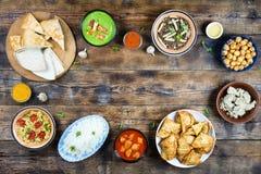 Pakistańska kuchnia, Bangladesz kuchnia, sztandar, kopii przestrzeń, Eid a zdjęcie stock