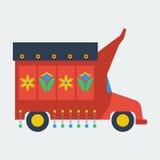 Pakistaanse vlakke vrachtwagen Stock Foto's