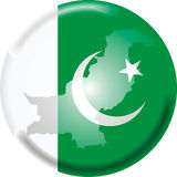 Pakistan. Art illustration: round medal with map and flag of pakistan Royalty Free Stock Images