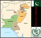 Pakistan Administrative divisions Stock Photography