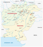 Pakistan and Afghanistan map Stock Photo