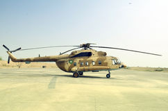 Pakistan Army MI 17 Helicopter!. MI 17 Helicopter is used mostly as cargo carrying and also in Rescue operations during catastrophes Stock Images