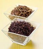 Pakistan black tea , and green tea Stock Photos