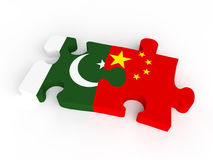 Pakistan and China friendship Royalty Free Stock Images