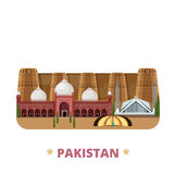 Pakistan country design template Flat cartoon styl Stock Photos