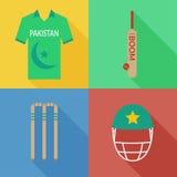 Pakistan cricket icons Stock Image